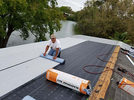 Low-Slope Roof Install
